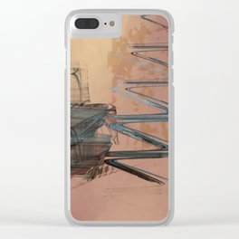 Academic Evocation Clear iPhone Case