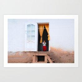 Tajikistan Girl Art Print
