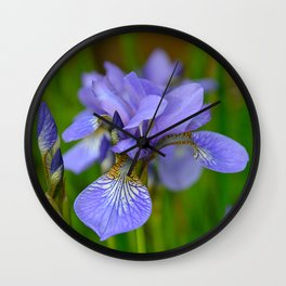 Siberian Iris by Teresa Thompson Wall Clock
