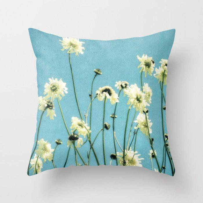 Scabious Throw Pillow