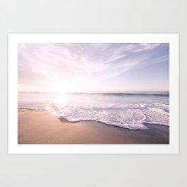 Sea Pastel Beach Tropical Art Print