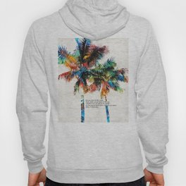Colorful Palm Trees - Returning Home - By Sharon Cummings Hoody