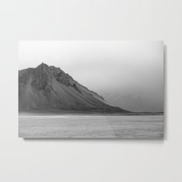 Mountain in Iceland Metal Print