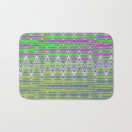 Colorful pink green blue pattern Bath Mat