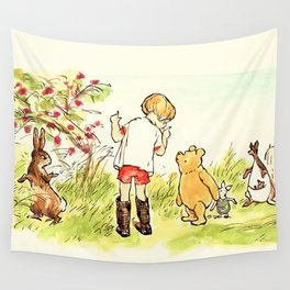 Cartoon Pooh Wall Tapestry