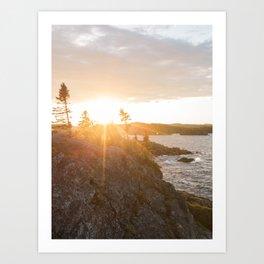 Sunrise at Pukaskwa - Ontario, Canada (4x3) Art Print