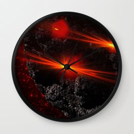 Large asteroid Wall Clock