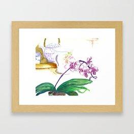 Orchard Teapot Framed Art Print