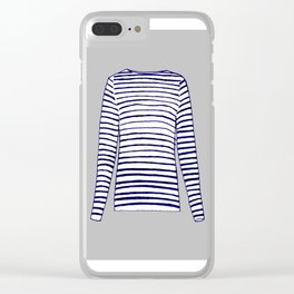 Gray Breton Clear iPhone Case