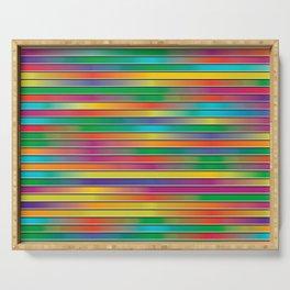 Pop Art Gradient Colors Striped Spectrum Pattern Serving Tray