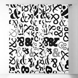 Ampersands on Ampersands Blackout Curtain