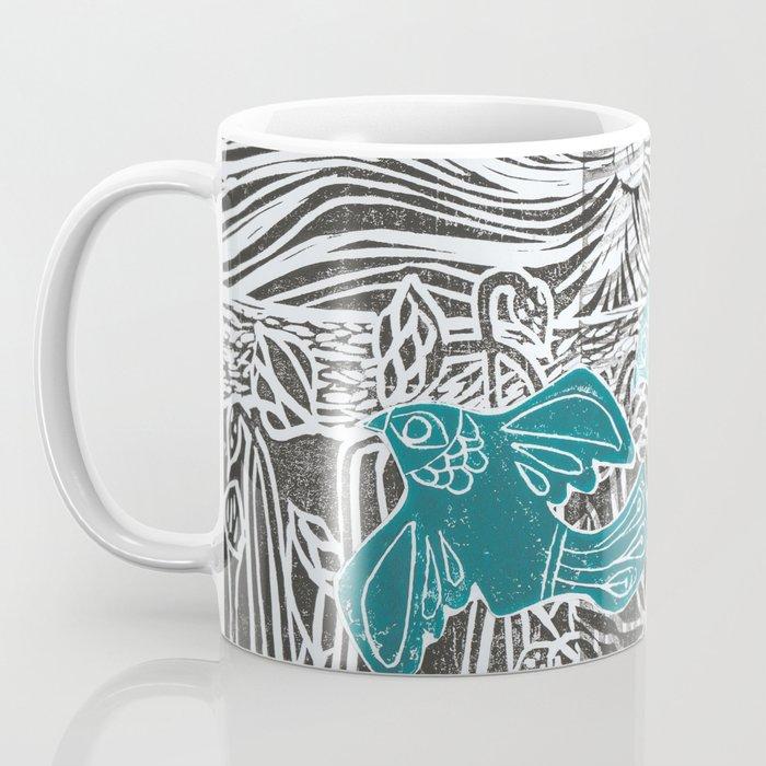 Taking Flight linocut Coffee Mug