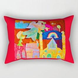Rainbow Angel Rectangular Pillow