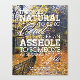 Earthquake weather Canvas Print