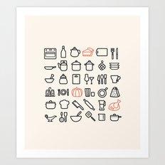 Minimal Kitchen Art Print