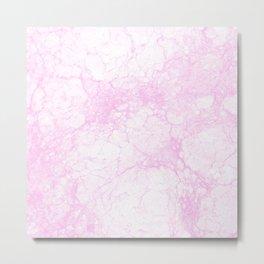 Modern abstract elegant lilac white marble pattern Metal Print