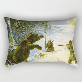 Vintage Russian Gunpowder Advertisement Rectangular Pillow