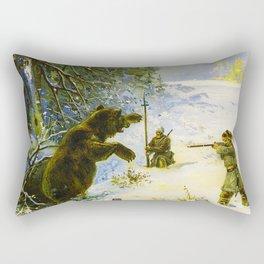 Vintage Russian Gunpowder Advertisement Rectangular Pillow