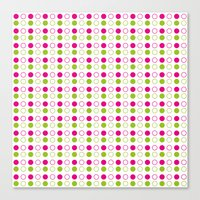 polka dot Canvas Prints featuring Polka Dot by Ryan Grice
