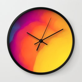 Clouds of Color Wall Clock