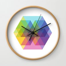 Fig. 040 Hexagon Shapes Wall Clock
