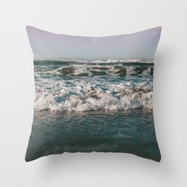 Ocean Crash Throw Pillow