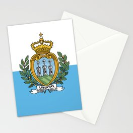 San Marino Flag Stationery Cards