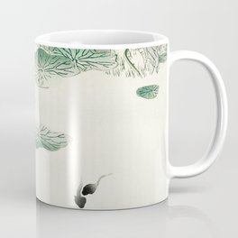 Frog in the swamp  - Vintage Japanese Woodblock Print Art Coffee Mug