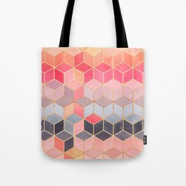 Happy Cubes Tote Bag