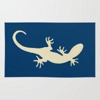 lizard Area & Throw Rugs featuring Lizard by Abundance