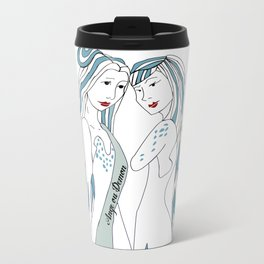 Gemini / 12 Signs of the Zodiac Metal Travel Mug