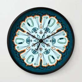 Trad Climbing Mandala Wall Clock