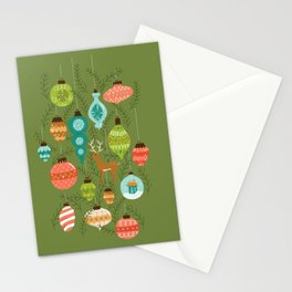 Mid Century Ornaments - Traditional Stationery Cards