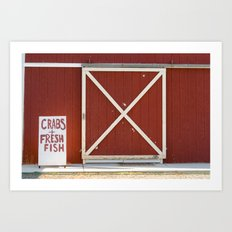 Crabs & Fresh Fish Art Print