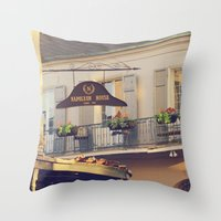 napoleon Throw Pillows featuring Napoleon Corner by Briole Photography