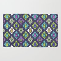 quilt Area & Throw Rugs featuring Scarabs Quilt by Vannina