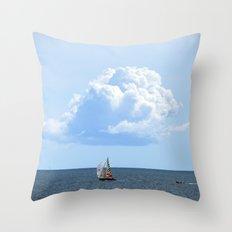 Atlantic Cloud Throw Pillow