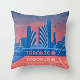 Toronto Nathan Phillips Square Canada by Cindy Rose Studio Throw Pillow