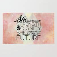 pocketfuel Area & Throw Rugs featuring Proverbs 31 She is...  by Pocket Fuel