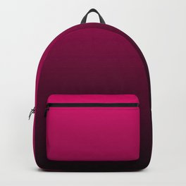 Black and Fuchsia Gradient Backpack
