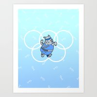 Olympic Cathelete Art Print