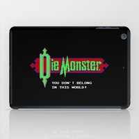 castlevania iPad Cases featuring Castlevania - Die Monster. You Don't Belong In This World! by Aaron Campbell