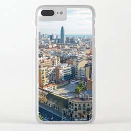 Barcelona From Sagrade Familia Clear iPhone Case