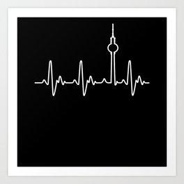 Berlin Heartbeat (Alex) Art Print