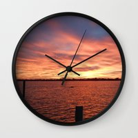 florida Wall Clocks featuring Florida Sunset by minx267