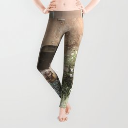 Playful in Nature | Happy Wild Skipping Child Vintage Outdoor Field Rustic Charming Country Farm Leggings