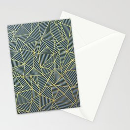Ab Lines Gold and Navy Stationery Cards