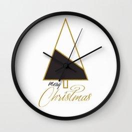 Glod Xmas #society6 #gold #xmas Wall Clock