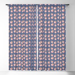 Cute Little Corgi in the Coffee Mug Pattern Blackout Curtain