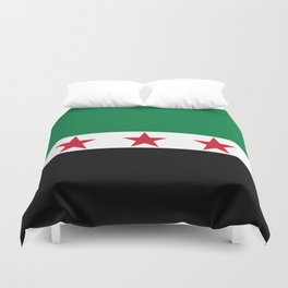 Syrian Independence Flag  High quality Duvet Cover